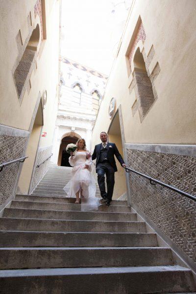 Matrimonio in Rocchetta, scalinata