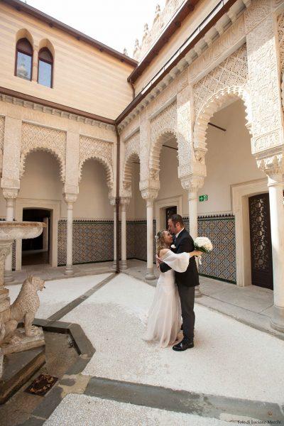 Matrimonio in Rocchetta cortile dei leoni